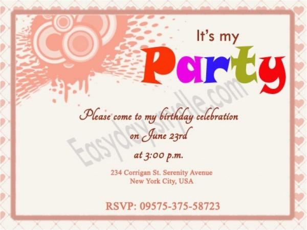 Fun Birthday Party Invitation Wording