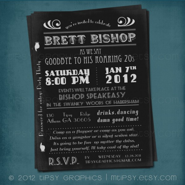 Gatsby Themed Party Invitations Roaring 20s Invitations Beautiful