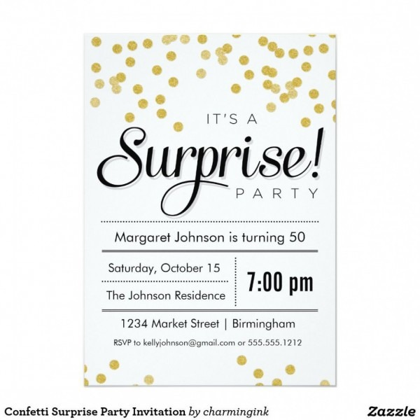 Get Surprise Birthday Party Invitations Templates Free