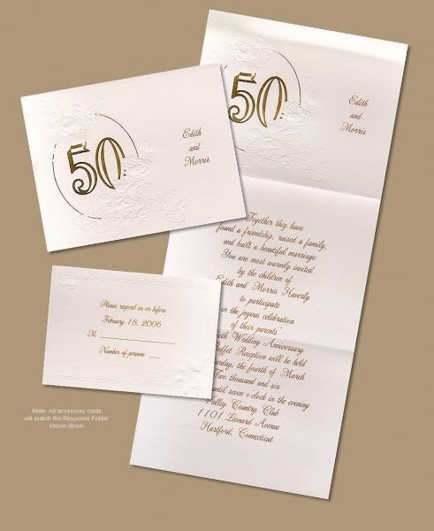 Golden Anniversary Trifold Invitation