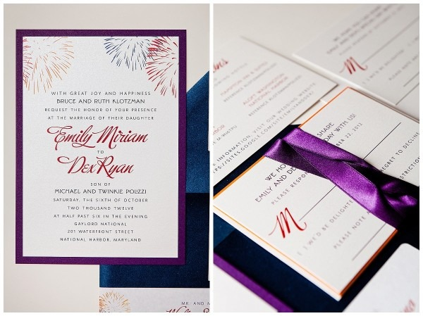 Firework Save The Date And Wedding Invitation Set