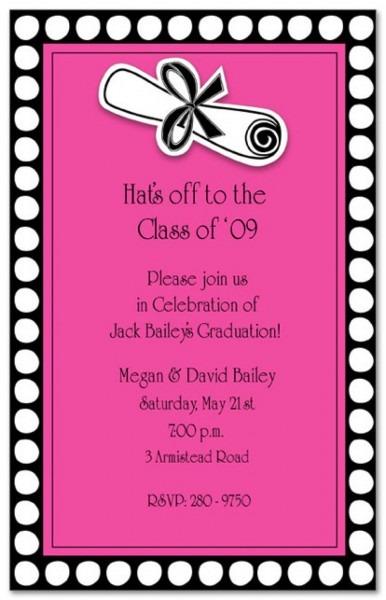 Graduation Luncheon Invitation Wording Grad Party Invite High