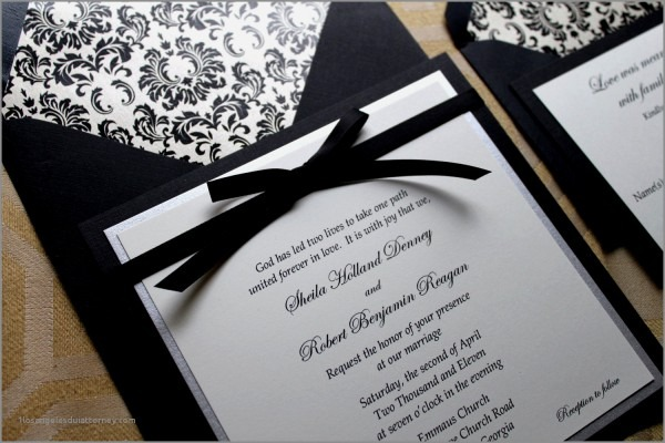 Gray And White Wedding Invitations Black White And Teal Wedding
