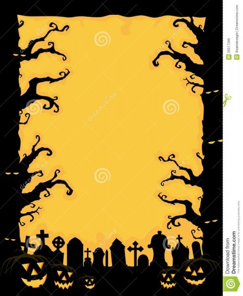 Halloween Invitation Stock Vector  Illustration Of Graves