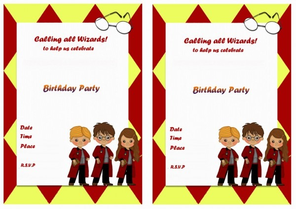 Harry Potter Birthday Invitations