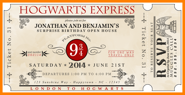 8+ Harry Potter Invitations Printable