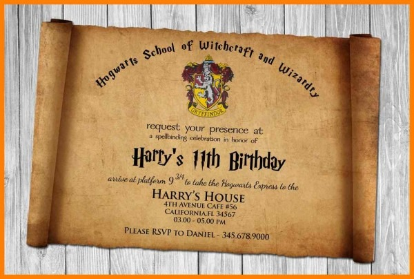 8+ Harry Potter Invites