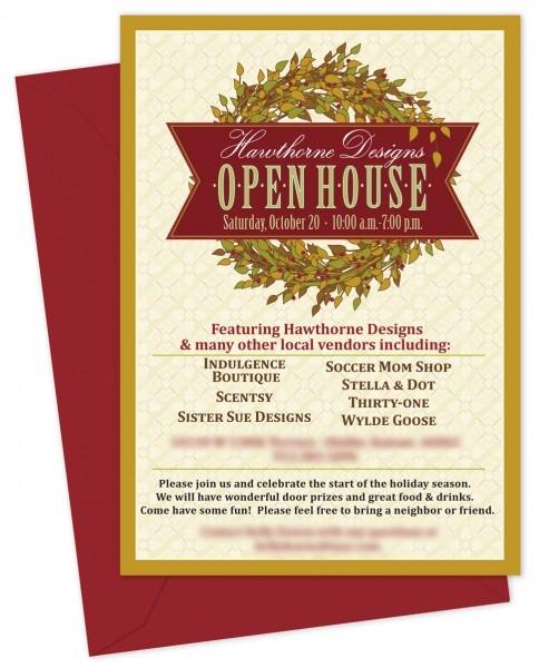 Hawthorne Composite Open House Invite Templates 2