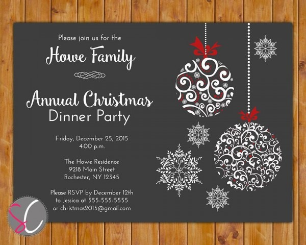 Free Printable Christmas Invitations Template Excellent Free