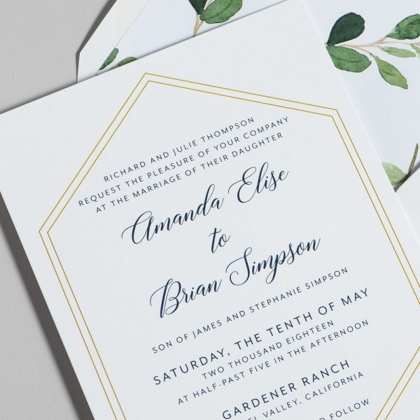 how to write date on wedding invitation