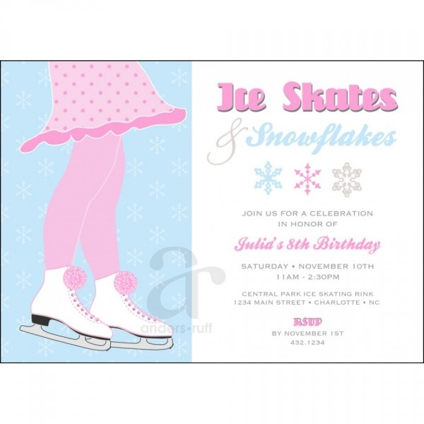 Winter Wonderland Birthday Party Invitations