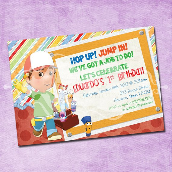 Handy Manny Birthday Party Invitation