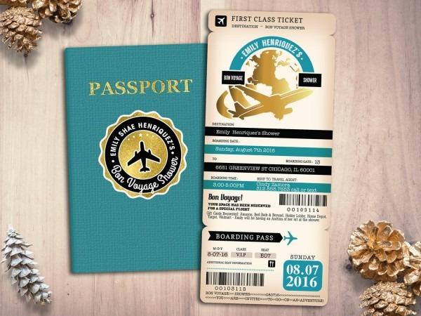 Good Bye Party, Retirement Party Invitation, Bon Voyage, Travel