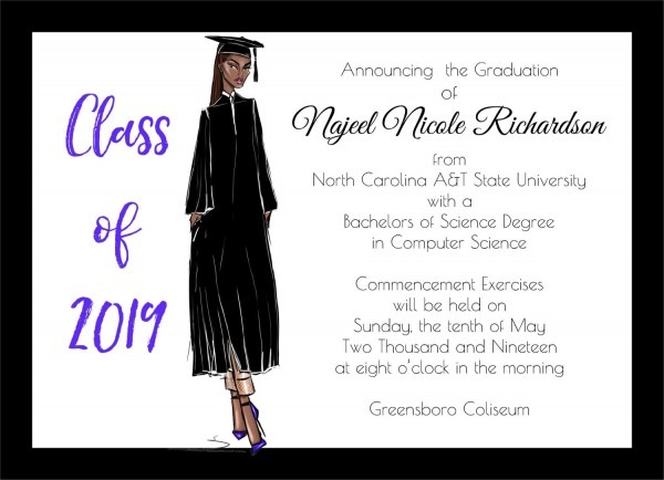 African American Graduation Announcement Fashion African