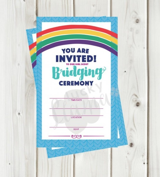 Girl Scout Bridging Invitation Flyer Instant Download