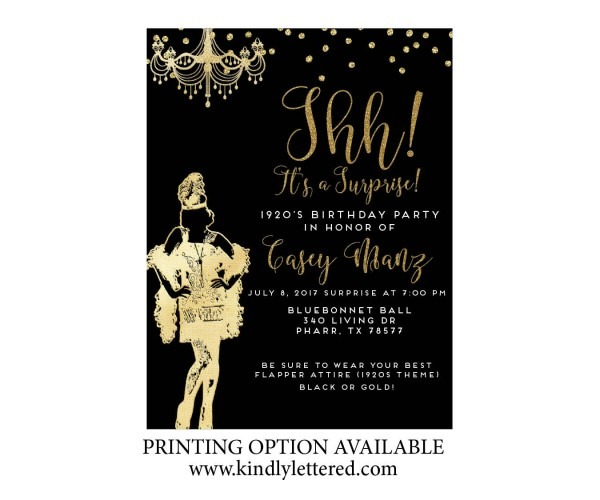 Roaring '20s Invitation