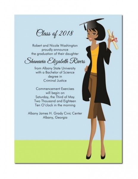 African American Graduation Announcement African American
