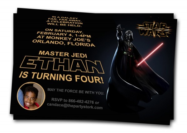 Free Printable Star Wars Birthday Invitations – Template Updated