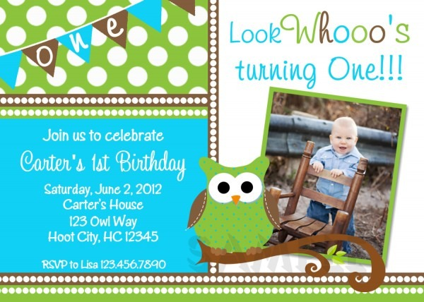 Printable Birthday Invitations, Little Boys Owl Party Invites