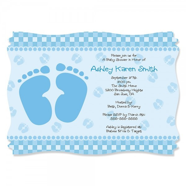 Baby Shower Footprint Decorations