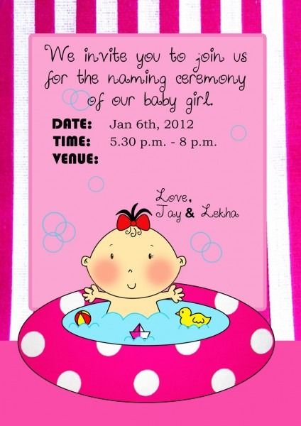 Baby Naming Ceremony Invitation Wording In Marathi