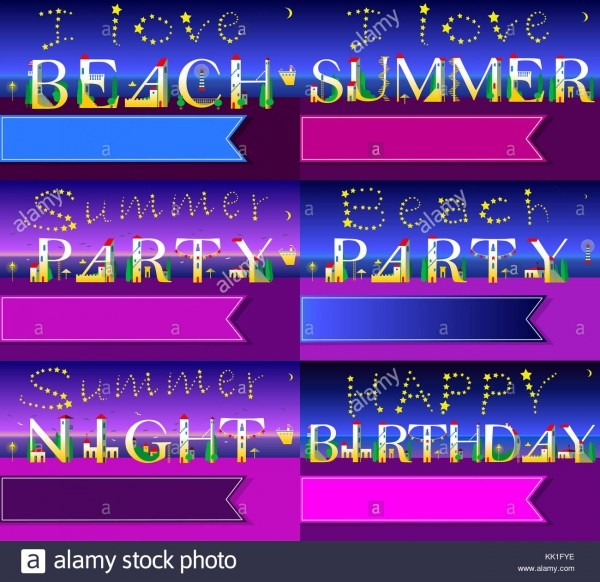 Invitation Cards To Parties  White Houses Font  Summer Beach