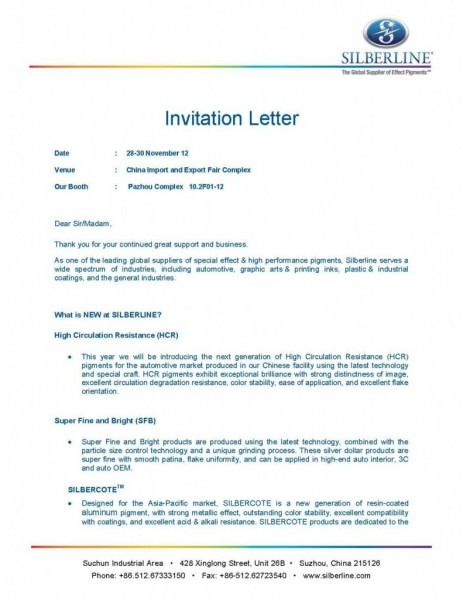 Invitation Letter Exhibition Template Save Free Download Sample