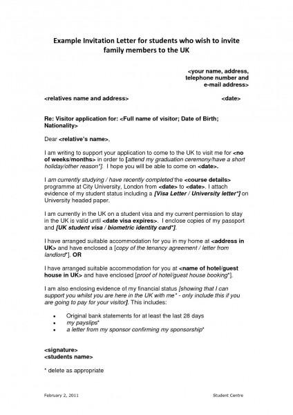 Visa Invitation Letter For Family Template on template for program at a glance, template for baby shower invitations, template for cancellation letter,