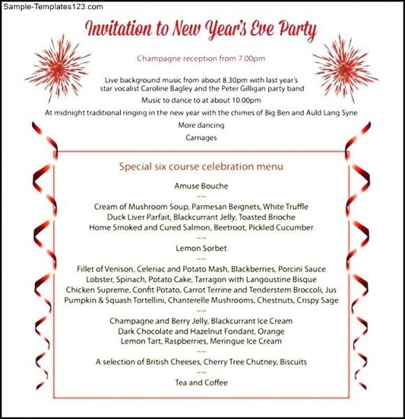 Invitation  New Year Party Invitation Letter