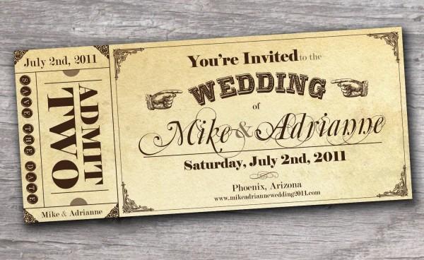 Invitation Ticket Wedding Invitation Template Pic Of Movie Ticket
