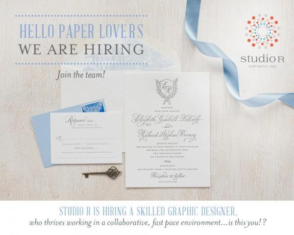 Job Opening  Studio R Is Hiring A Skilled Graphic Designer!