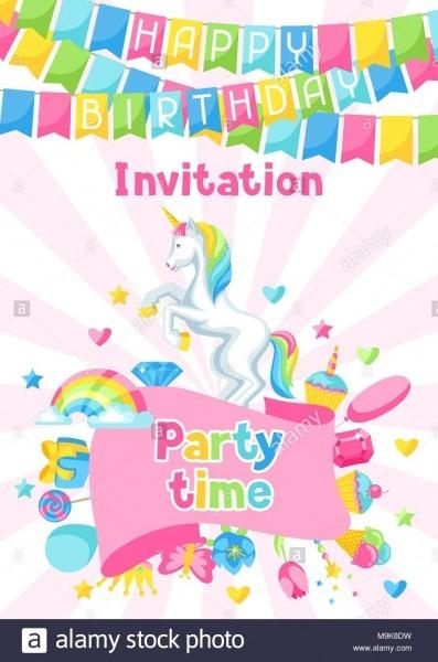 Joyeux Anniversaire Invitation à Une Fête Avec Des éléments De