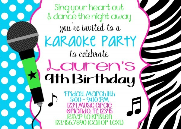 Karaoke Party Invitation Is Your Newest Idea Of Sensational Party