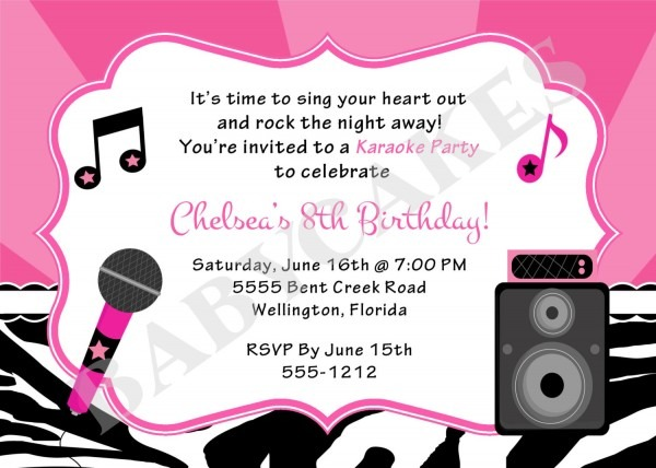 Karaoke Party Invitation Luxury Karaoke Party Invitations