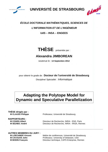 Pdf) Adapting The Polytope Model For Dynamic And Speculative