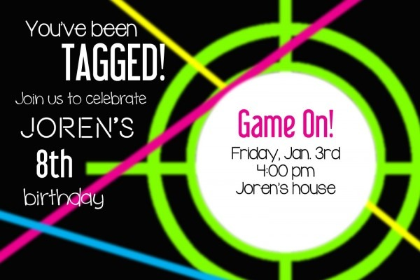 Laser Tag Party Invitations In Support Of Invitations Your Party