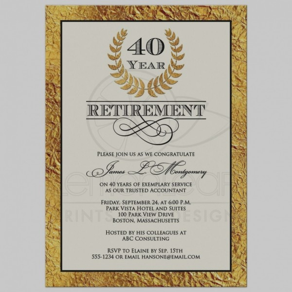Invitation  Retirement Party Invite Wording
