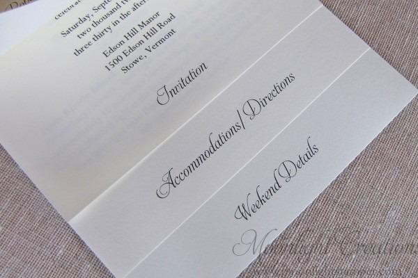 Multi Layer Wedding Invitations