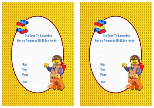 Lego Birthday Invitations Lego Birthday Invitations And New