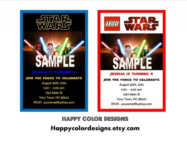 Lego Star Wars Birthday Invitations Template Best Collection Card