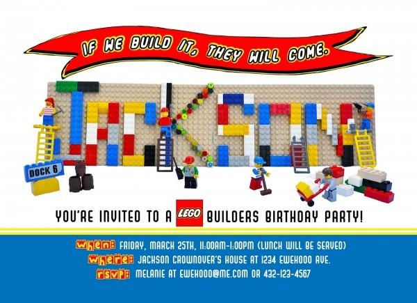 Legoinvite Nice Lego Birthday Party Invitation Wording