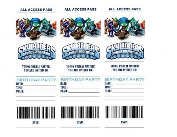 Life In A Larger Story  Skylanders Birthday Party Invitations Free