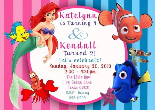 Free Printable Little Mermaid Invitation Template Mermaid Party