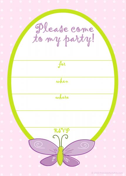 Birthday Invitations Templates For Girls October 2014 Ideas