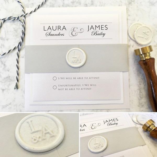 Macy Invitation Set With Wax Seal