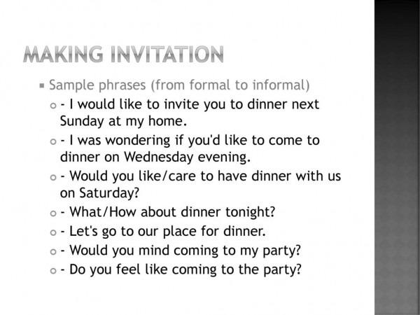 Accepting & Refusing Invitation