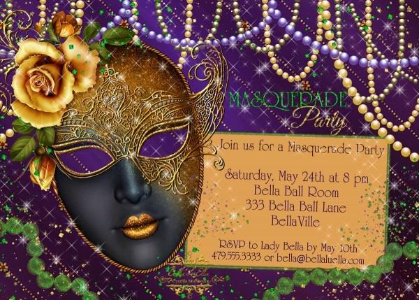 Mardi Gras Party Invitations Mardi Gras Party Invitations Party