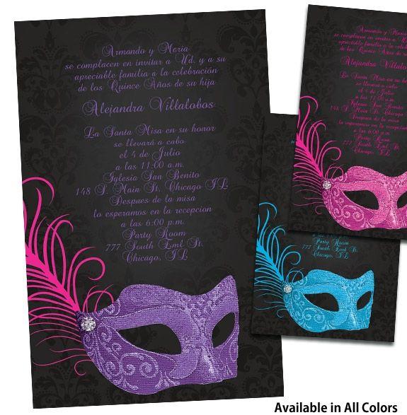 Masquerade Quinceanera Invitations Masquerade Quinceanera