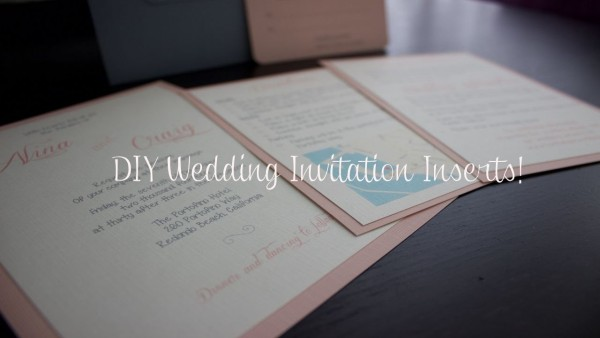 Diy Wedding Invitation Inserts