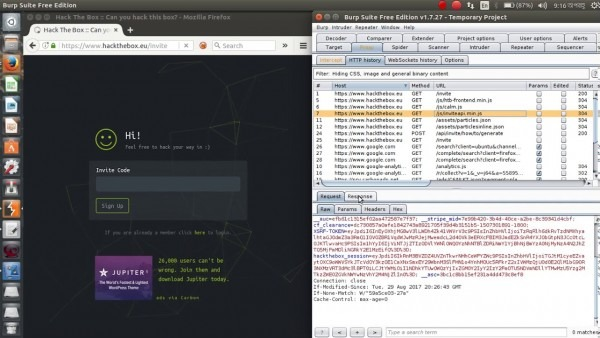 Hack The Box Invite Code Challenge